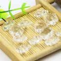 Beads, Selenial Crystal, Crystal, Colourless , Flower shape, 14mm x 14mm x 7mm, 1 Bead, [ZZE0004]